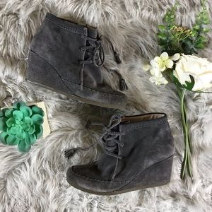 Boden Tie Wedge Booties